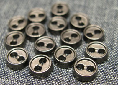 画像2: 5mm黒ニッケルボタン(マット)【15個入】