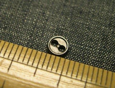画像1: 5mm黒ニッケルボタン(マット)【15個入】