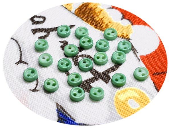 画像1: ドール用  3mmボタン/14.渋い黄緑【20個入】 (1)