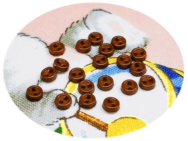 画像1: ドール用  3mmボタン/15.茶【20個入】 (1)