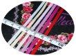 画像2: リボン刺繍 ピンク メーターカット売り (2)